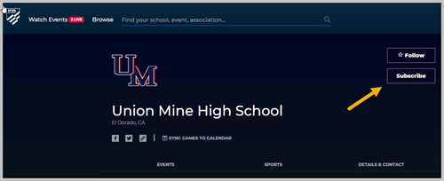 UnionMine High School. Click the subscribe button
